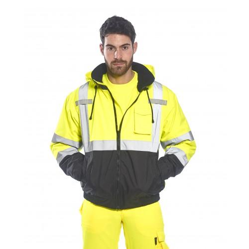jaune hv / noir