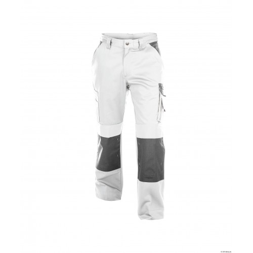Pantalon de travail Boston femme face blanc/gris