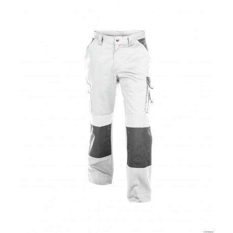 Pantalon de travail Boston femme face blanc/gris