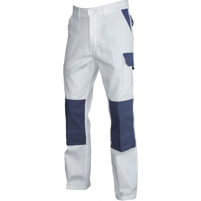 120c685f92c ... poches genoux. Pantalon de travai Typhon avec renfort noir  Pantalon de  travai Typhon avec renfort blanc ...