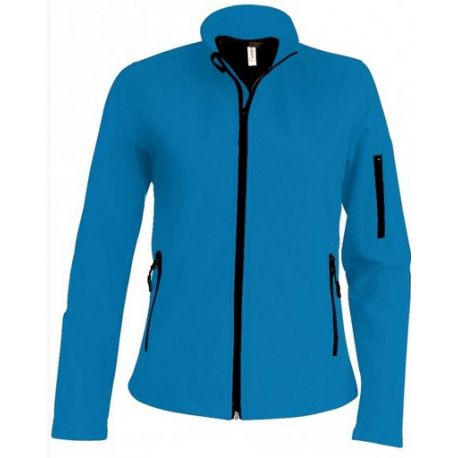 Veste Softshell femme K400 aqua blue