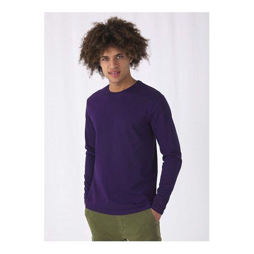 T-shirt homme col rond B&C manche longue