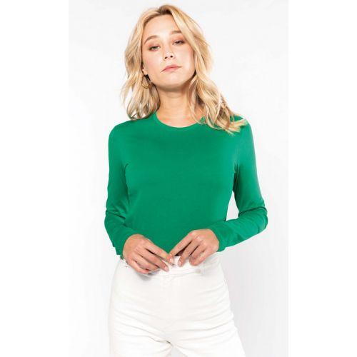T-shirt femme col rond K383 manche longue