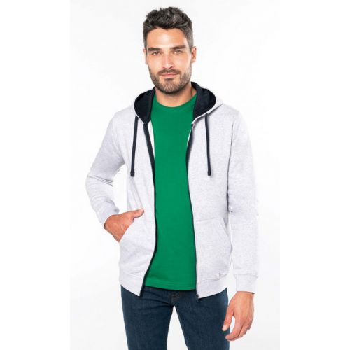 Sweat-shirt à capuche zippé homme 280g K466