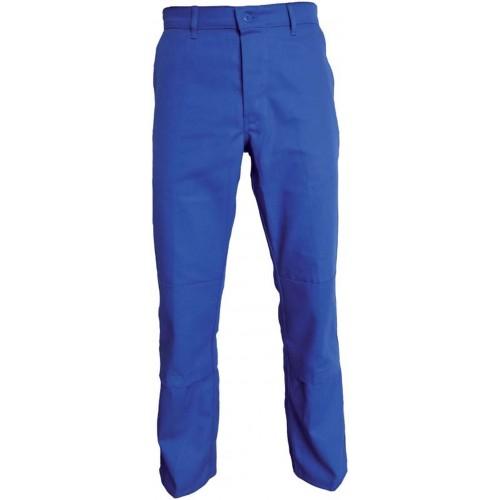 Pantalon de travail avec poches genouillères bleu